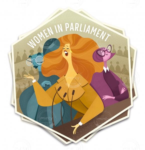 Hex Sticker: Women in Parliament