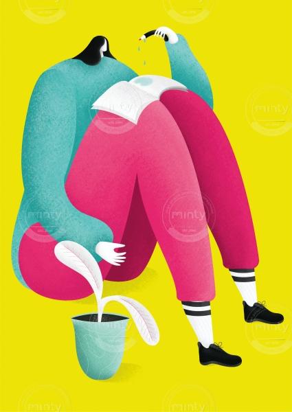 Illustrazione Intervista Artribune_TITOLO_Riflessioni