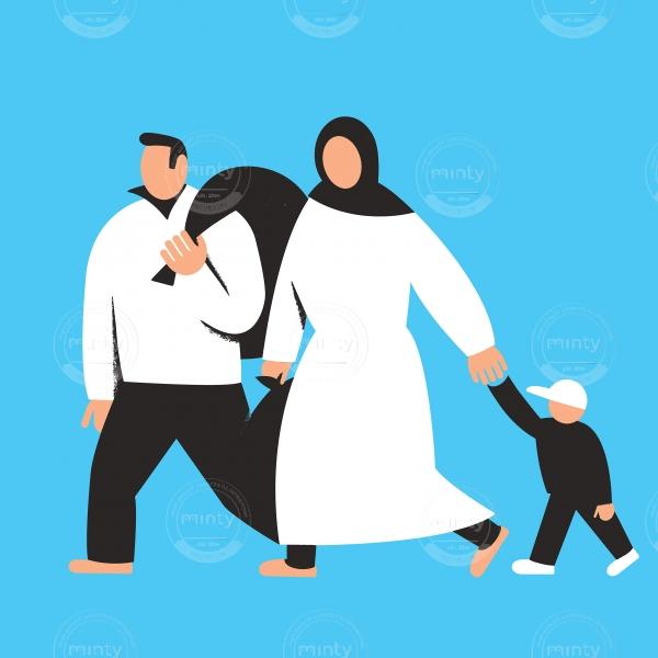 Emigrant family