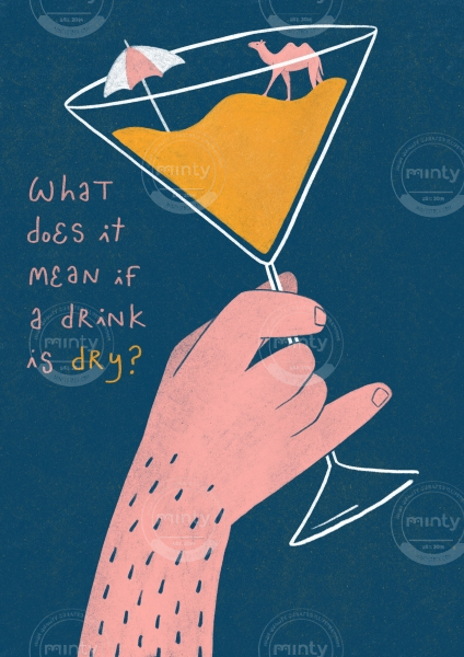 What does it mean if a drink is dry? - A3