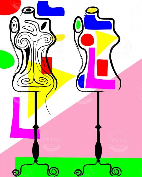 Colorful fashion mannequin