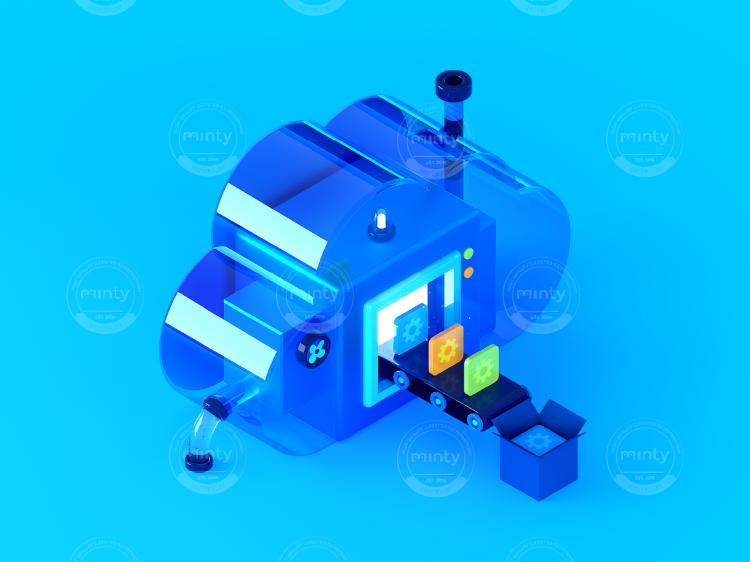 3D - Isometric - Salesforce - Machine 3