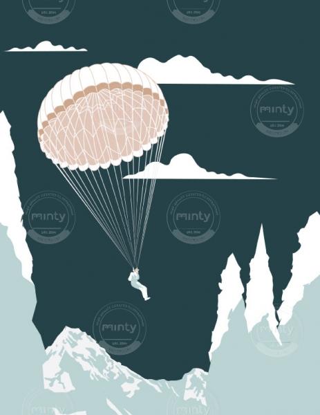 Man skydiving. (Breathe magazine editorial collaboration)