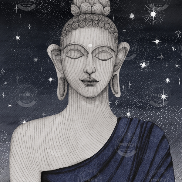 buddha with stars