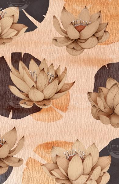 pink lotus flowers in pink river vertical