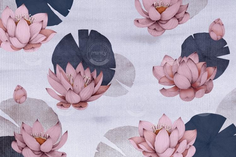 pink lotus flower i blue river horizontal