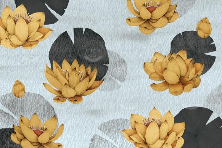 yellow lotus flowers in river vertical