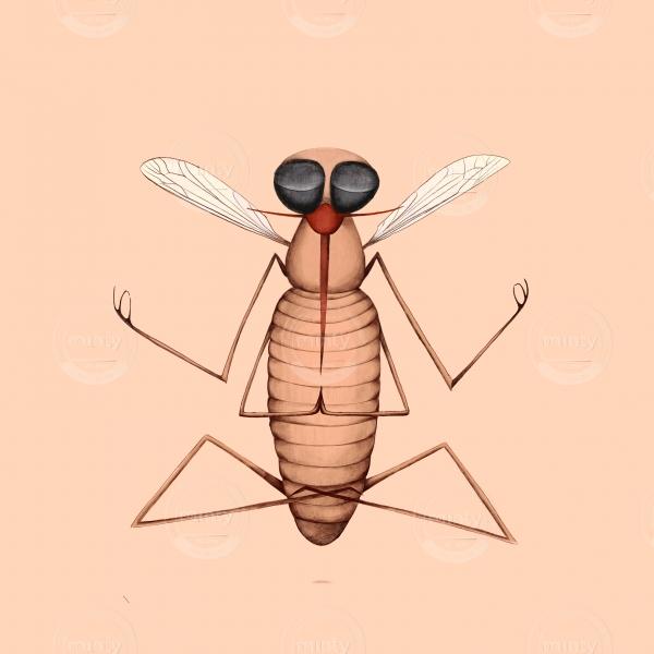 very zen mosquito doing yoga