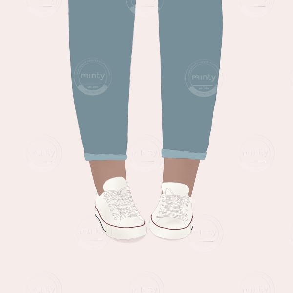 Girl wearing Converse shoes
