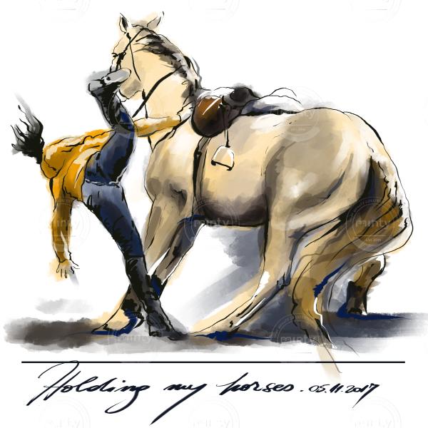 holding my horses