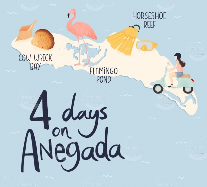Anegada illustrated map