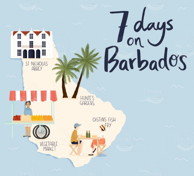 Barbados illustrated map