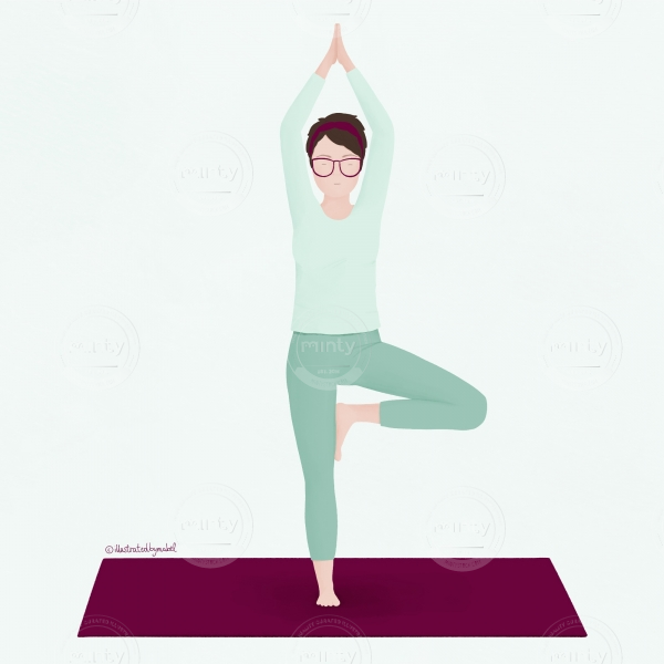 yoga illustration_vrksasana