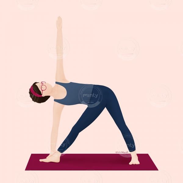 yoga illustration_utthita trikonasana