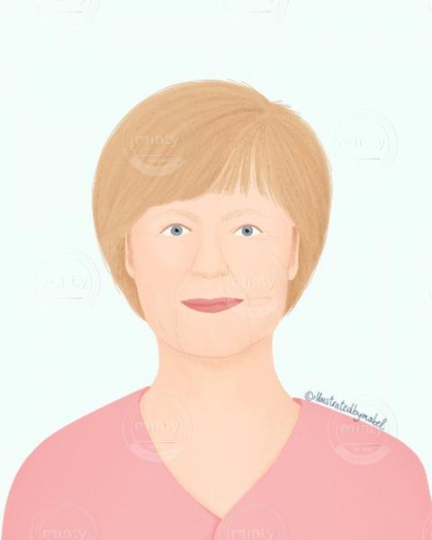 Angela Merkel illustration portrait