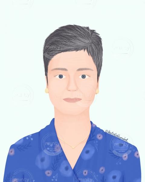 Margrethe Vestager illustration portrait
