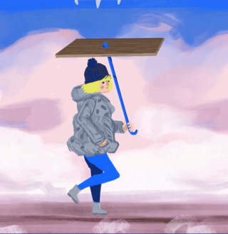 Winter walks under umbrella.gif