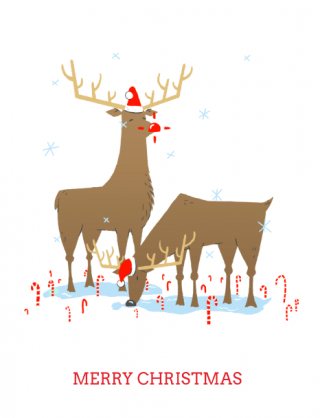 Reindeer Merry Christmas GIF.gif