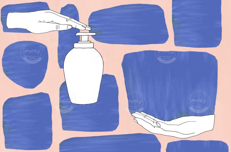 Human hand lotion